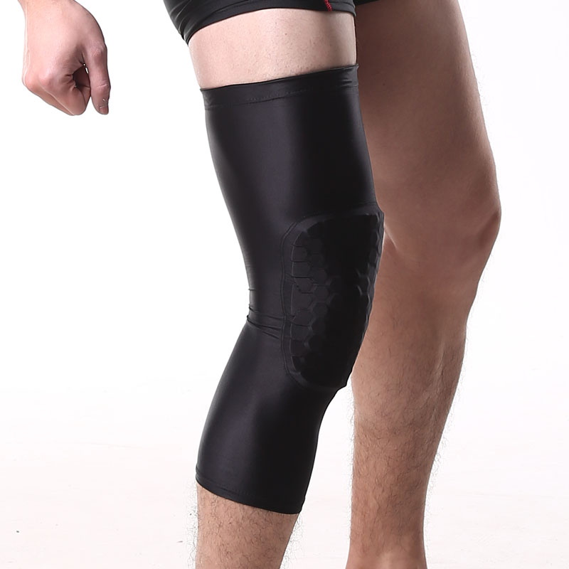 15da8e3304 HOPEFORTH Padded Compression Leg Sleeve Long Basketball Knee Pads Protector Support  Knee Brace Guards for Outdoor Sports Running Jogging Joint Pain Relief ...